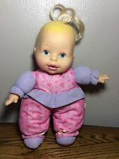 Rare Vintage 1997 Gerber Doll Cries Toy Plush Soft Baby Girl Blonde Blue Eyes