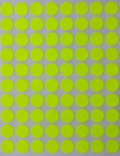 Neon Yellow Color Labels In Various Sizes 8mm 38mm 1 15 Sheets