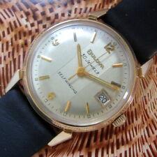 Mens Original 1966 Bulova 30 Jewel Automatic 10K RGP Vintage USA Made Date Watch