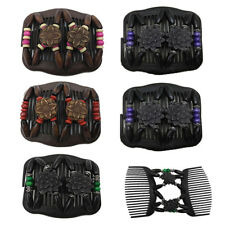 1PC Women Ladies Magic Hair Clip Wood Beads Double Slide Comb Hairpin Gift