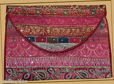 EMBROIDERED SILK PATCHWORK PURSE OF ANTIQUE RECYCLED DRESSES FROM INDIA!!