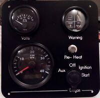 Narrowboat, RIB, Marine instrument panel waterproof 12V / 24V, 3 meter wiring