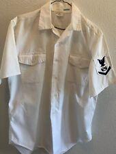 US Navy Vietnam Vintage Uniform Shirt Heavy Equipment Operator