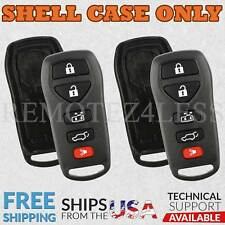 2 for 2004 2005 2006 2007 2008 2009 Nissan Quest Remote Shell Case Cover 5btn