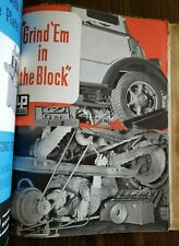 1930s-40s machinery & equip brochures catalog, cool vintage illustrations