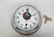 Vintage Russian Submarine Clock Cccp N1-87R w/Key