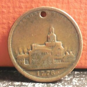Nice 1776 1876 International Exhibition Memorial Medal Struck within Exhibition