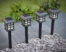 12 x Garden Post Solar Power Carriage Light LED Outdoor Lighting Black Ornament