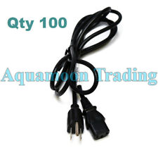 100 Lot NEW 3-Prong 6FT AC Power Cord for PC/Scanner/Computer Monitor/ATX PSU
