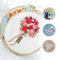 Embroidery Cross Stitch Kit Set for Beginners-Handmade Embroidery DIY Craft UK