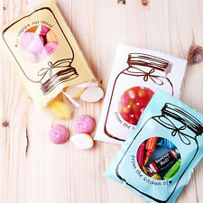 100Pcs Candy Biscuit Bag Plastic Seal Wedding Gift Pouch Party Wrapping Supplies