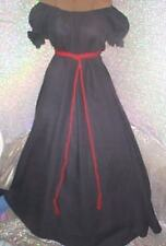 Civil War / Rennaissance Black Chemise Gown Day Dress
