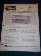 Bendix Service Manual~1962 Dodge Deluxe Car Radio~R23BD 323