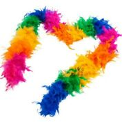 Rainbow Feather Boa Costume Accessory Pride Parade 72 Inches Long Roma 4764