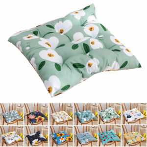 1X Nordic Seat Pad Dining Room Garden Kitchen Chair Cushions Tie On 15 Patterns