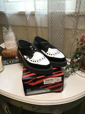 TUK Black And White Pointed Creepers Womens US 8