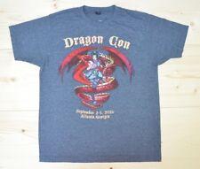 Dragon Con Shirt Atlanta 30 Year 2016 Dark Grey Heather Logo Womens Sz Large Tee