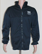 Official USA Olympics Athletic Zip Up Jacket - 2XL - Black Made in USA