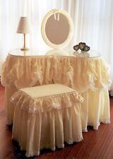 STUNNING FEMININE KIDNEY SHAPED DRESSING TABLE PLUS MATCHING SEAT AND MIRROR