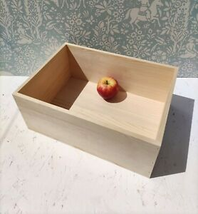 Pine wood Storage unit Wooden BREAD BOX Pyrography Fruit CRATE ECO Best quality