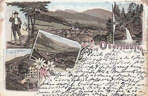Ansichtskarte Bayern 8974 Gruss aus Oberstaufen 1896