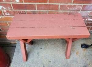 Vintage Bench Redwood Picnic Porch Outdoor 24x17.5x10 #4