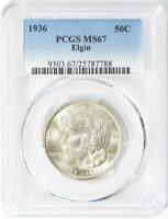 1936 Elgin Commemorative Silver Half Dollar -PCGS MS 67- Mint State 67