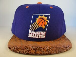 Phoenix Suns NBA Mitchell & Ness Snapback Hat Cap Purple Orange