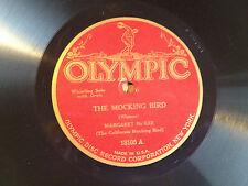 MOCKING BIRD Margaret McKEE Beautiful 1920's OLYMPIC 78 rpm Record Victrola