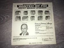 *RARE* *ABORTION CHARGE *PRE-ROE VS WADE* DR HARVEY LOTHRINGER FBI WANTED POSTER