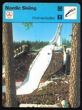 1977 Sportscaster Card Nordic Sking Holmenkollen # 09=03 NRMINT.