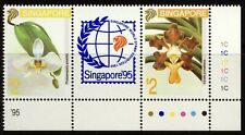SINGAPORE . 1993 Orchids, World Stamp Exhibition (665a) . Mint Never Hinged