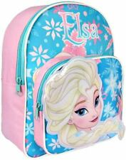 Disney Frozen Elsa 3d Kids Backpack Shoulder Bag Kids Child Zipped Genuine