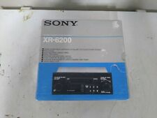 New listing Sony Fm/Am Cassette Stereo Xr-6200 Old School Shaft Style tested