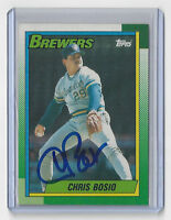 1990 BREWERS Chris Bosio signed card Topps #597 AUTO Autographed Milwaukee