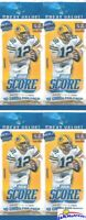 (4) 2018 Score Football Factory Sealed JUMBO FAT Retail Packs-160 Cards-Loaded!