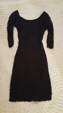 NEW LOOK size 6 Lace Black Dress,bodycon,mini,3/4 Sleeve,fully lined,stretch