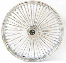 Ultima 48 King Spoke Fat 26 3.5 Front Wheel Rim Harley Touring Dual Disk Chrome