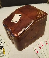 VINTAGE ARRCO PLAYING CARDS with RARE  LEATHER CASE