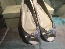 £199 Benjamin Adams Andie Swarovski crystal satin wedding Bridal shoe 39 6 BNIB