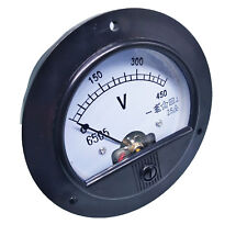 US Stock DC 0 ~ 450V Round Analog Volt Pointer Needle Panel Meter Voltmeter