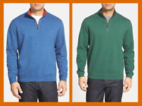 Tommy Bahama ~ Flip Side Reversible Men's Zip-Neck Twill Pullover $98-$118 NWT