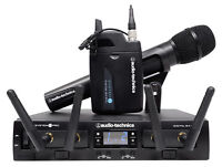 Audio Technica ATW-1312/L System 10 PRO Wireless Handheld+Lavalier Microphone