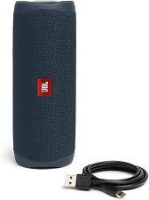 JBL Flip 5 Portable Waterproof Bluetooth Speaker, Blue