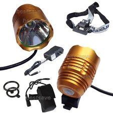 Gold Bulb XM-L T6 SSC LED 3 Mode Bike Head Light Lamp Torch P7 +4x18650+CH B0430