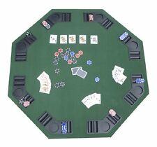 Texas Hold'em Foldable Poker Blackjack Card Game Table Top Carry Bag Chip Casino