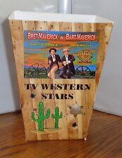 TV WESTERN STARS POPCORN BOX # 3. PALADIN, CHEYENNE, MAVERICK, LAWMAN. RAWHIDE
