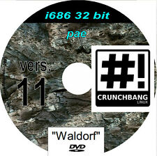 Crunchbang 11 Waldorf  i686 pae Live DVD Desktop Notebook Laptop