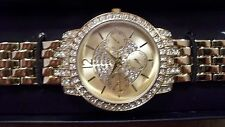 Bling Pavé Watch with Crystals By Swarovski- Gold Tone
