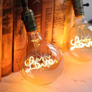 Vintage Filament LED Edison Bulb Dimmable E27/4W Decorative Industrial Light A+